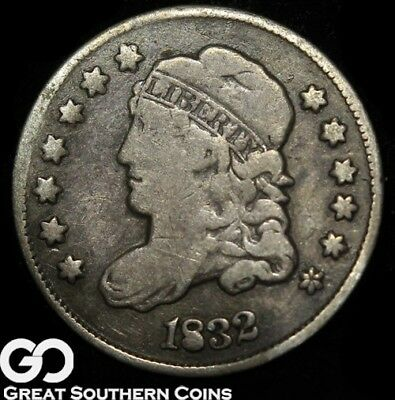 1832 Capped Bust Half Dime, Tougher Early Silver Half Dime