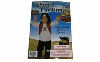 Wholesale Bulk Buy 12x Pirate Cross Bones & Skull Dress Up Set 3-5 & 6-8 years