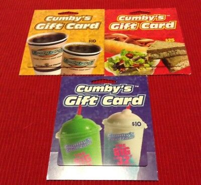 Lot of 3 Cumberland Farms Gift Card Collectibles
