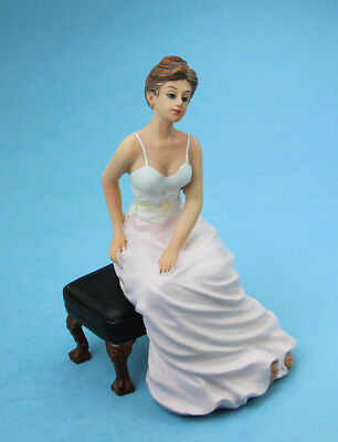 Dollhouse Miniature 1:12 Scale Seated Lady/Female Doll for Bedroom #SDP324
