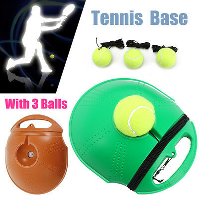Singles Tennis Trainer Self-study Training Practice +3 Tennis Balls Rebound Base