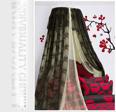 Double Size Yellow  Ceiling Mosquito Net Bedding Bed Curtain Netting Canopy .