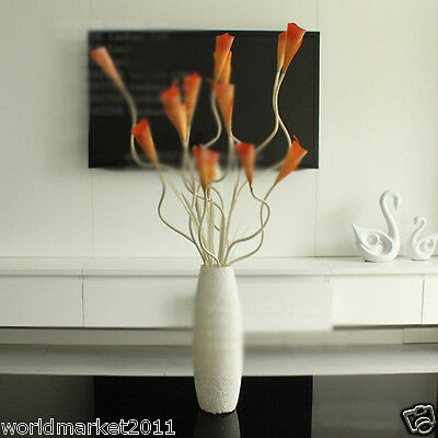 New Simple White Glass Vase With Orange Flowers Sitting Room Decoration