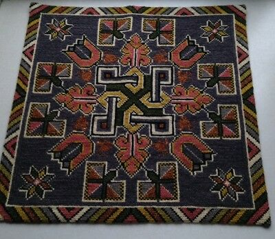 Vintage Swedish Embroidered Tapestry / Wall Hanging / Handembroidery