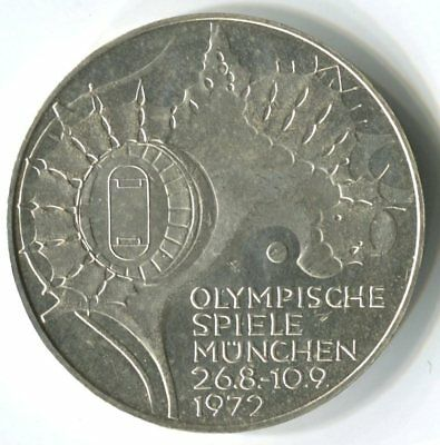 Germany 1972 Munich Olympic Games - 10 Marks Silver Coin