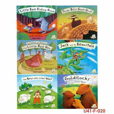 Flip-Up Fairy Tales Series 1 Collection 6 Books Set Pack The Boy Who Cried Wolf