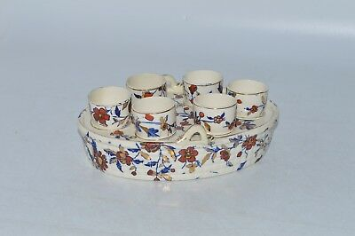 Six Musterschutz Eggcups and Holder (TF03)