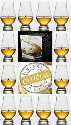 ( 12 ) Twelve Glencairn Scotch Whisky Tasting Glasses
