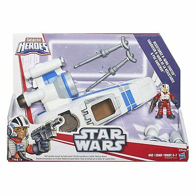 Playskool Heroes Galactic Heroes Star Wars Resistance X-Wing Fighter, New