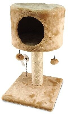 Cat Kitten Hotel Scratching Pole Post Pet House Tower Bed Activity Kitty Condo