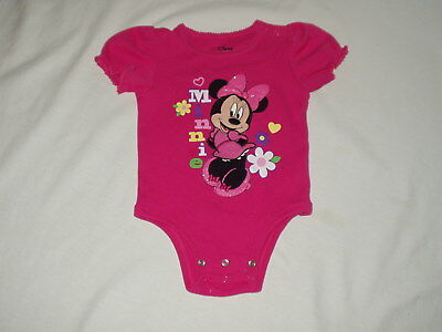 MINNIE MOUSE Disney Store one piece applique ROMPER outfit  Size 12 / 18 months