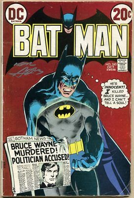 Batman #245 - VG- - Cover Signed By Neal Adams