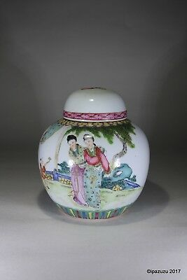 Chinese Porcelain Polychrome Ginger Jar & Cover