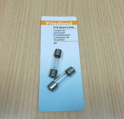 Pack Of 2 Friedland D70 Replacement Door Bell Push Bulbs Spare Lamps 8 Volt