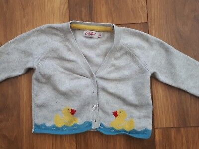 Baby Girls Cath Kids Kidston Little Duck Cardigan. 6-12 Months.