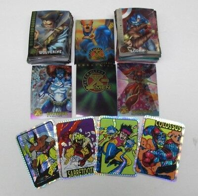1996 Fleer X-Men Ultra Chrome Complete 100 Card Set W/wrapper + 1 Vending Prism