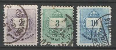 SPECIALS - Hungary 1881. Colour numbered Krajczar complete set Type 3. used