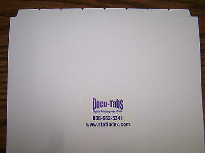 156 sets of 8 copier Write On Index divider 8th cut 1248 tabs, NO Hole, collated