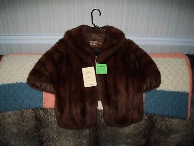Vintage Higbee Co Russian Squirrl Fur Stole with Tags