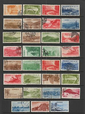 Japan national parks collection , 31 stamps
