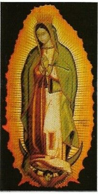 Virgin of Guadalupe Vinyl Sticker / Decal, Vintage Stock 1990s, Mexican Art, New