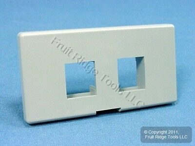 Leviton Gray Quickport 2-Port Cubicle Wallplate Snap-In Data Faceplate 49900-SG2