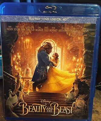 Beauty And The Beast (Blu-ray + DVD + Digital HD; 2017) NEW FREE SHIPPING!!