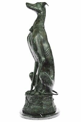 Greyhound Whippet Brass Bronze Patina Sculpture Figure Statue Art Deco Gift Sale