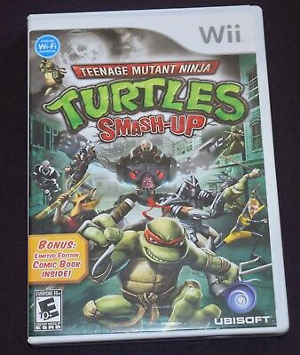 Teenage Mutant Ninja Turtles: Smash-Up (Nintendo Wii, 2009) Complete CIB TMNT