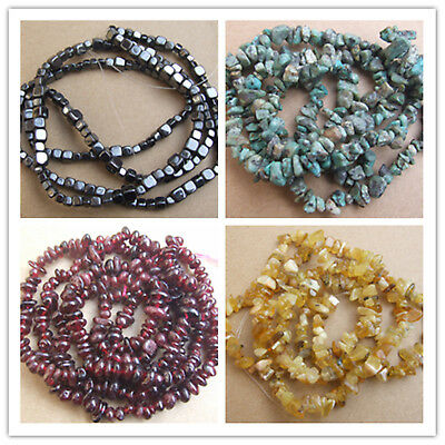 """5-8mm Natural Stones Chips Loose Beads 35"""""""
