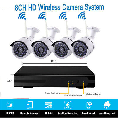 "Wireless 7""TFT LCD 2.4Ghz CCTV DVR Video Recorder IR-CUT Camera Security System"