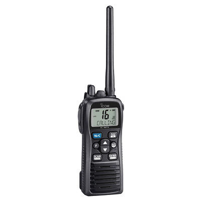 Icom M73 Plus Handheld Vhf 6W Ipxb Submersible Active Noise Part # M73 31