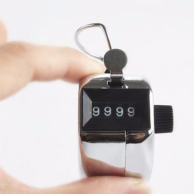 Portable Handy 4 Digits Metal Tally Number Golf Test Lap Counter Number Clicker