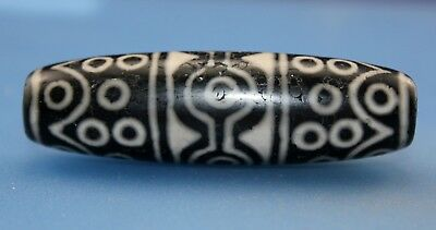 66*19 mm Antique Dzi Agate old 36  eyes  Bead from Tibet **Free shipping**