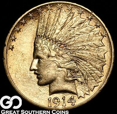 1914 Eagle, $10 Gold Indian, Brilliant Uncirculated++ ** Free Shipping!