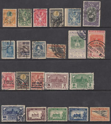 Thailand pre-1940 hi val selection 22 diff stamps cv $56.65
