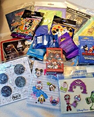 Disney Authentic 25 Pin Trading Lot Unopened Booster Pin Packs (b3)