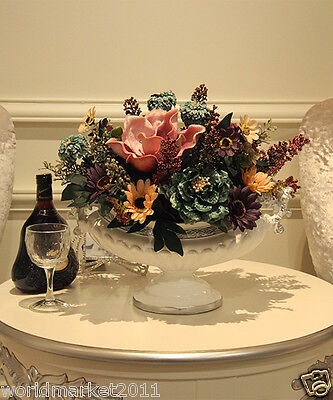 New Home Decoration Height-38cm White Vase+ High Emulation Cloth Flowers