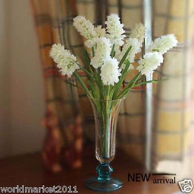 New Simple Transparent Glass Vase With Four Beam White Hyacinth Decoration