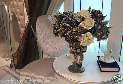New Home Decoration Height-50cm Bow-Knot Vase+ High Emulation Cloth Flowers