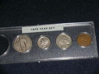 1926 Vintage Circulated Year Set - Nice 4-Coin Set                        (Set2)