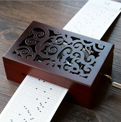 DIY Hand-cranked Music Box  With Hole Puncher♫  SPIRITED AWAY THEME SOUNDTRACK♫