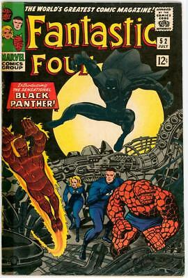 Fantastic Four #52 1966 Vg Cents Silver Age Marvel Comic 1St Black Panther Movie