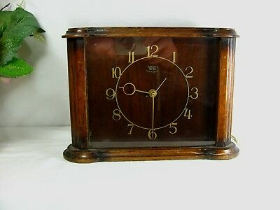 Art Deco Antique Clock Smiths Sectric Mantel In Working Order Interior Design