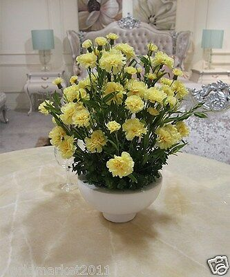 New Home Decoration Height-50cm White Vase + High Emulation Cloth Flowers