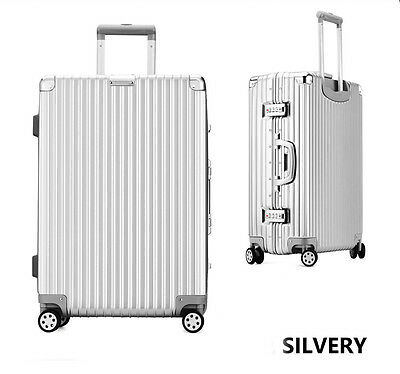 """20"""" Silver PC+ABS Universal Wheel Password Travel Suitcase/Trolley luggage.*"""