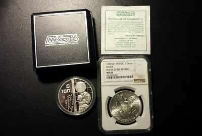 Mexico Silver Coin Lot..1982 Double Die Reverse Libertad And A Mundial 100 Pesos