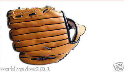 Sporting Goods PVC Environmental Leather Wear-Resisting Baseball Glove Brown&$