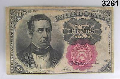 U.s. Fractional Currency Ten Cents Note Series Of 1874 Xf Great Color! #3261