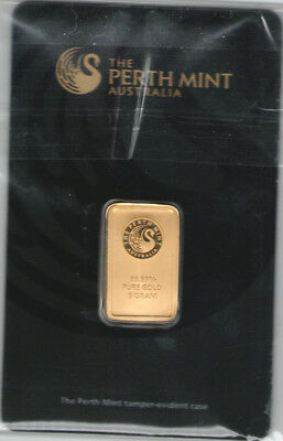 5 gram Perth Mint Gold Bar .9999 Fine (In Assay),